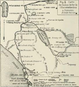 Peta jalur kereta api di Sumbar. foto wikipedia