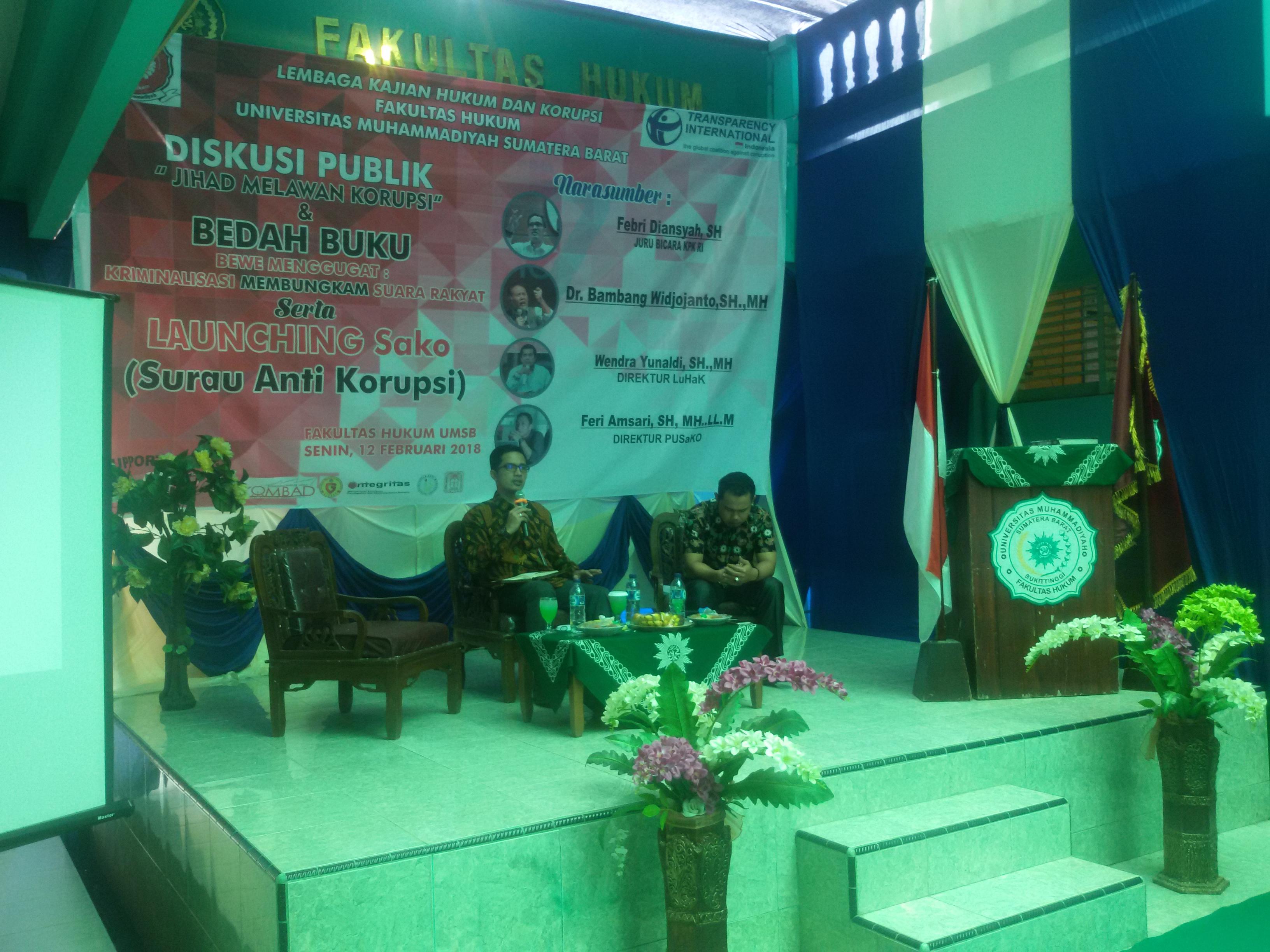 Diskusi Publik Anti Korupsi