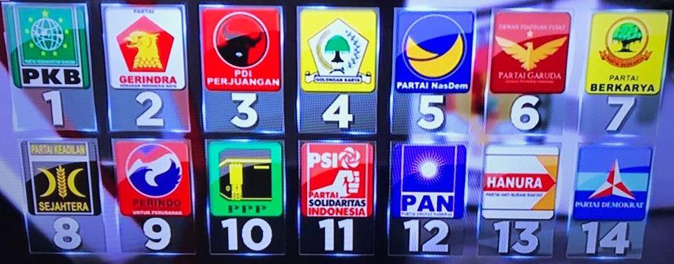 Nomor urut parpol peserta pemilu