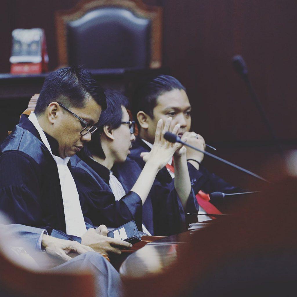 Para Advokat di MK yang uji UU MD3