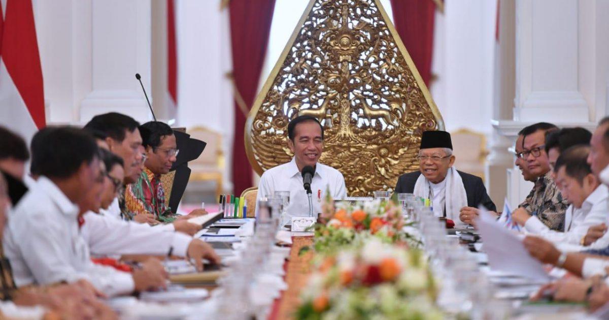 Presiden Jokowi pimpin sidang kabinet - SetnegRI courtesy