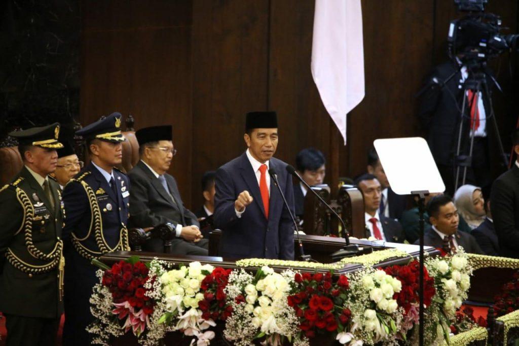 Pidato Presiden Joko Widodo - courtesy SetnegRI