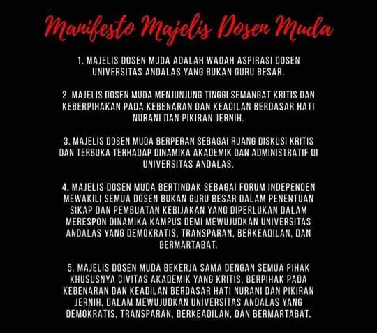 Manifesto Majelis Dosen Muda - bakaba.co