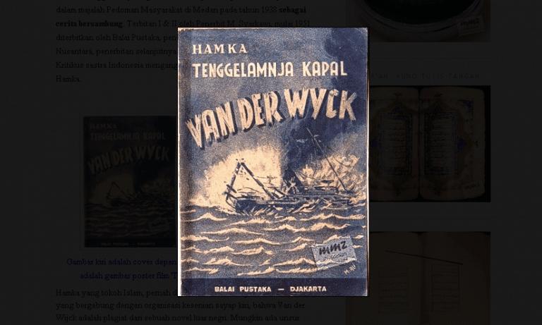 Tenggelamnya Kapal Van Der Wijck: Hamka, Sastra dan Orang Minang