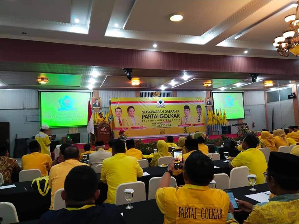 Musda X Partai Golkar Sumbar - courtesy fb Aguswanto