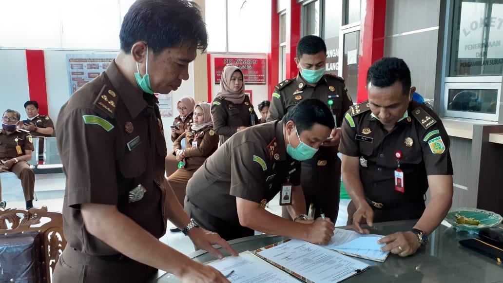 Sertijab Kasi.Pidum Kejaksaan Negeri Bukittinggi- foto - fadhly reza