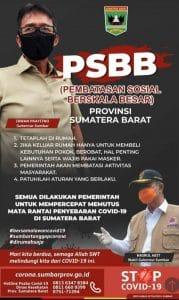 Pemberakuan PSBB di Sumbar
