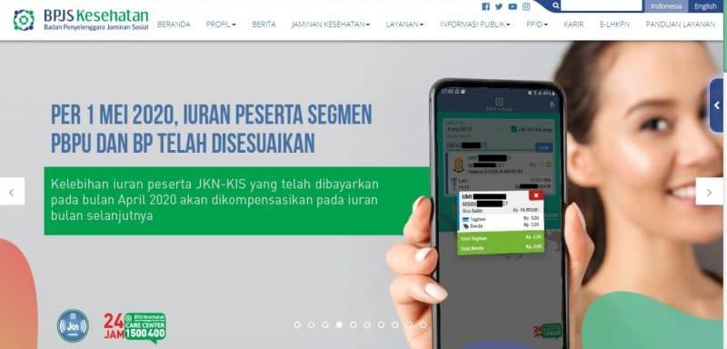 Capture Halaman Web BPJS Kesehatan
