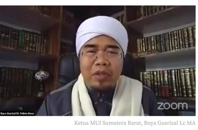 Zoom Meeting, Buya Gusrizal, Lc., MA. (Ketua MUI Sumatera Barat) foto. istimewa