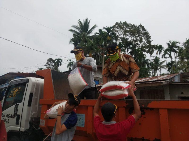 Distribusi Bantuan ke wilayah nagari