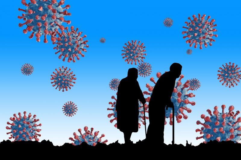 Ilustrasi lanjut usia di tengah pandemi covid-19