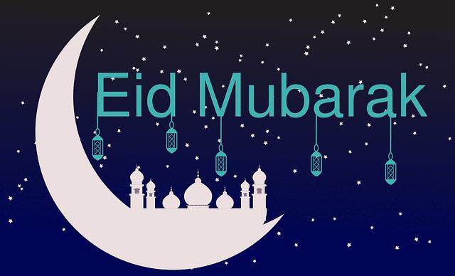 eid mubarak Gambar oleh WAQAR AHMAD dari Pixabay