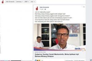 Capture Akun Facebook Ade Armando Tgl 5 Juni 2020