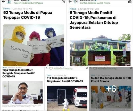 Dokter dan tenaga kesehatan Capture berbagai laman media
