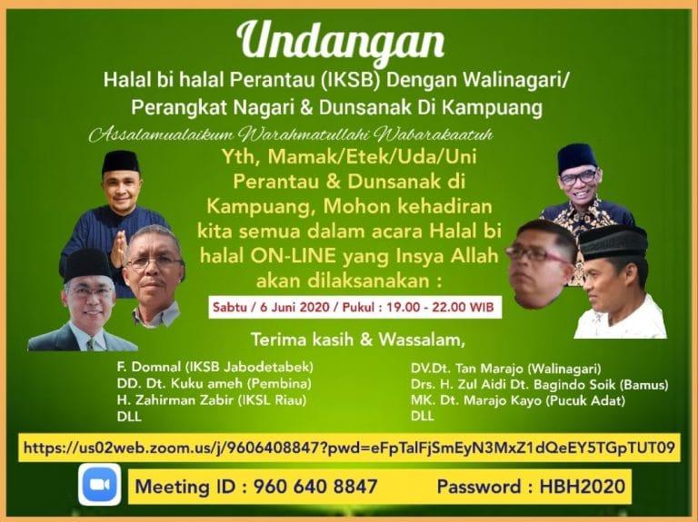Perantau Nagari Situjuah Batua Halal bi Halal Online
