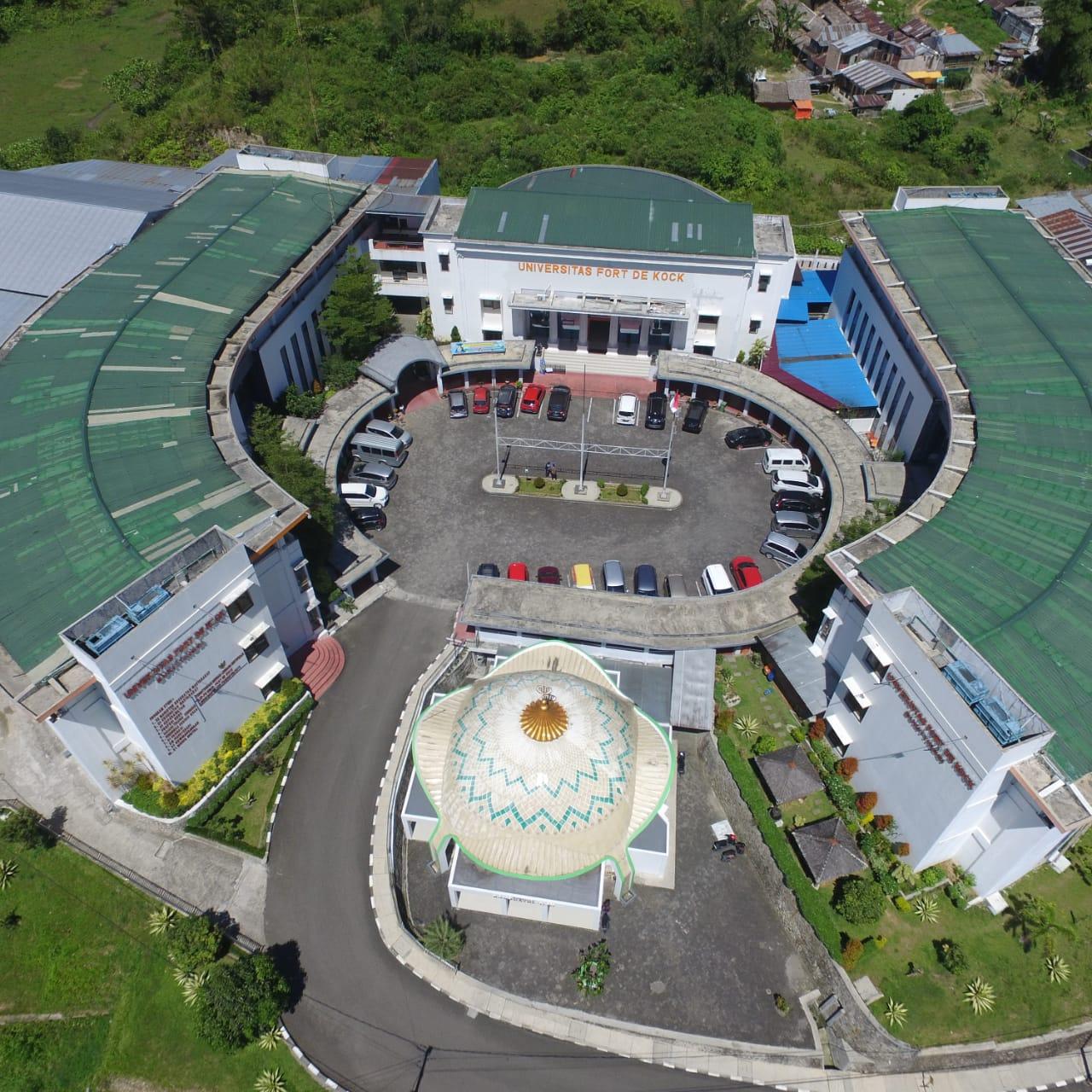 Universitas Fort De Kock, foto drone. fadhly reza