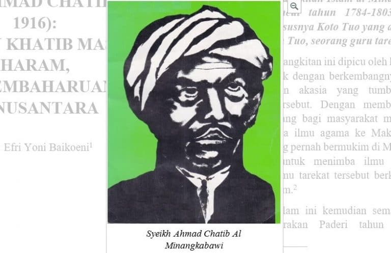Syekh Ahmad Chatib: Pelopor Pembaharu Islam