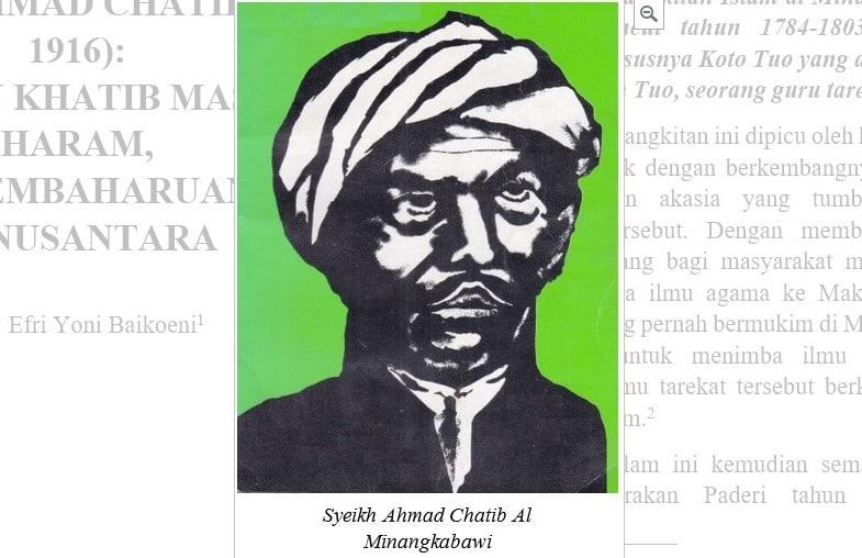 Syeikh Ahmad Chatib al Minangkabawi