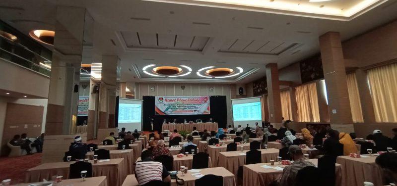 Penetapan bacawako jalur nonpartai - Repat Pleno Terbuka KPU Bukittinggi foto. ist