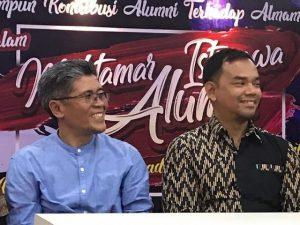 Ketua Alumni UMSB bersama Rektor Dr. Riki Saputra