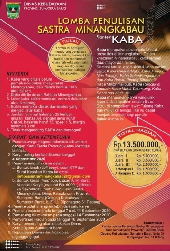 Lomba Penulisan Sastra Minangkabau