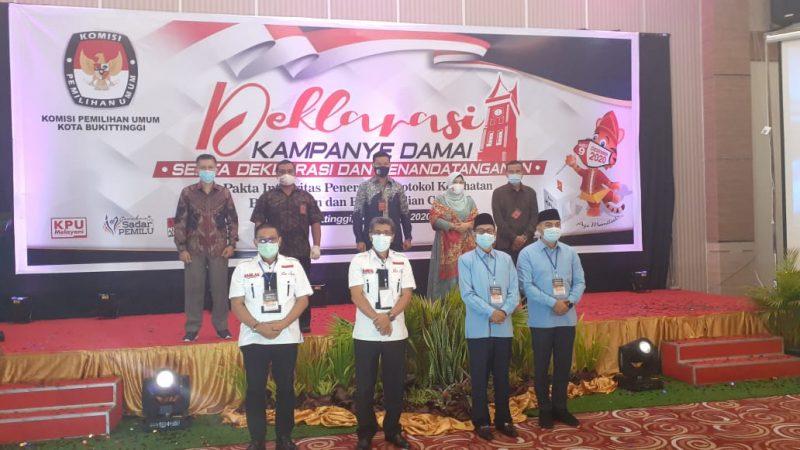 KPU Bukittinggi gelar deklarasi kampanye damai foto fadhly reza