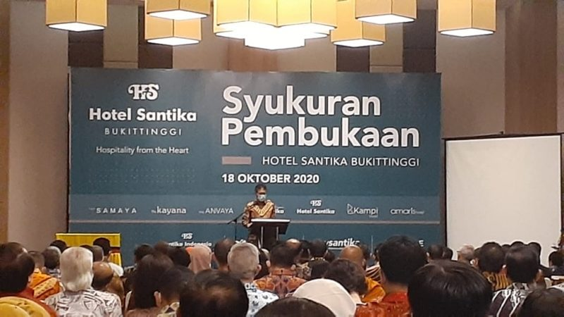 Gubernur Sumatera Barat beri sambutan, foto fadhly reza