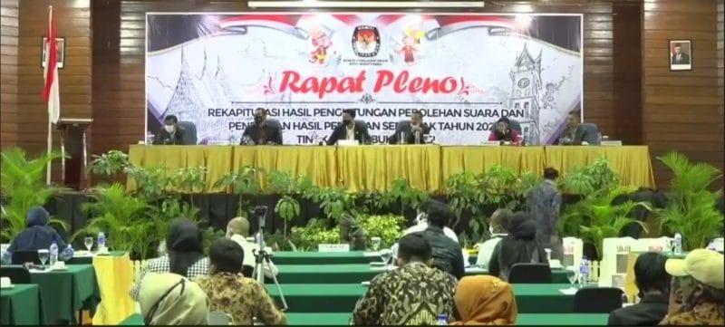 Rapat Pleno KPU Bukittinggi foto fadhly reza