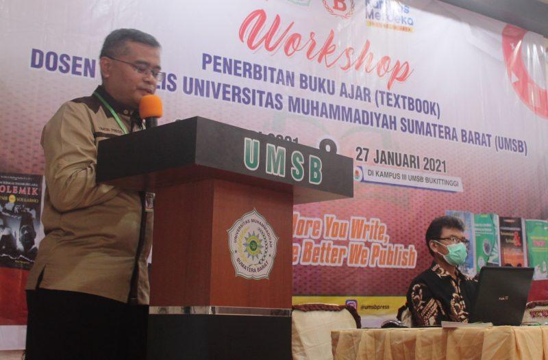 Workshop Dosen Penulis di UMSB