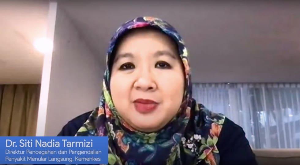 [Foto] dr. Siti Nadia Tarmizi, M. Epid., Juru Bicara Vaksinasi Covid-19, sekaligus Direktur Pencegahan Penyakit Menular Langsung, Kementerian Kesehatan Republik Indonesia