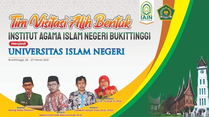 IAIN Bukittinggi alih bentuk ke UIN Bukittinggi foto courtesy of IAIN