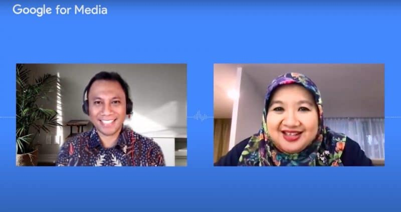 (kiri-kanan) Danny Ardianto Google Indonesia - Siti Nadia Tarmizi Kemenkes RI